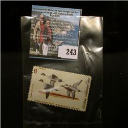 1973 No. 2 Iowa Migratory Waterfowl Stamp State Conservation Commission, signed, Fine.
