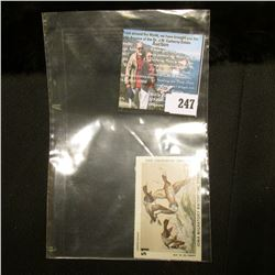 1977 No. 6 Iowa Migratory Waterfowl Stamp State Conservation Commission, signed by the original owne