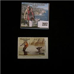 1988 No.10 Missouri Department of Conservation Waterfowl Stamp, unsigned, NH, Very Fine.