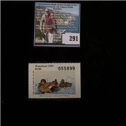 1992 No.14 Missouri Department of Conservation Waterfowl Stamp, unsigned, NH, Very Fine.