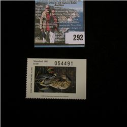 1993 No.15 Missouri Department of Conservation Waterfowl Stamp, unsigned, NH, Very Fine.
