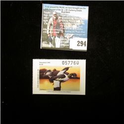 1995 No. 9 Missouri Department of Conservation Waterfowl Stamp, unsigned, NH, Very Fine.