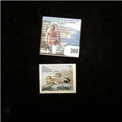 1986 Illinois Migratory Waterfowl $5 Stamp, Mint, unused.