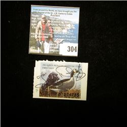 1991 Illinois Migratory Waterfowl $5 Stamp, Signed, VF.