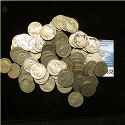 Zip Lock Bag with (71) no date or partial date Buffalo Nickels, would be a nice group to make jewelr