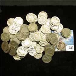 Zip Lock Bag with (80) no date or partial date Buffalo Nickels, would be a nice group to make jewelr