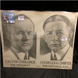 "1924 Campaign Poster ""Calvin Coolidge For President Chalres G. Dawes For Vice-President""."