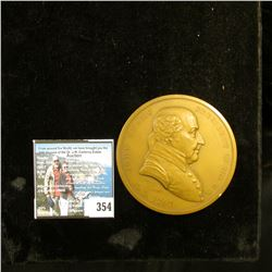 "A.D. 1797 ""John Adams President of the U.S."", reverse ""Peace and Friendship"" depicts crossed Tomahaw"