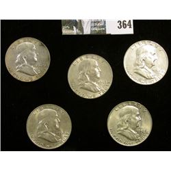 1958D, 60D, 61D, 62D, & 63D Franklin Half Dollars. Grades up to EF.