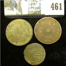 Three very old Turkish coins, which I am unable to attribute.