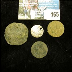 (4) Unattributed early Islamic Coins, one of which is Silver, all several hundred years old no doubt