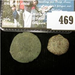 Lot of 2 different Constantine Copper AE, genuine Roman bronze coins of the Constantine period.
