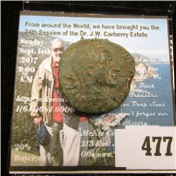 Nice Portrait Bronze Ancient Dupondius, a little careful research could identify this Ruler, but the