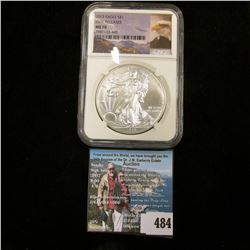 "2015 American Eagle Silver Dollar, NGC slabbed ""First Releases MS 70""."