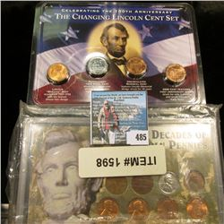 """9 Decades of Pennies"" Lincoln Cent Set in plastic case; & ""Celebrating the 100th Anniversary The Ch"
