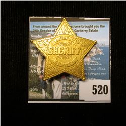 """American Mint """"Badges of the Legendary Lawmen Sheriff of Lincoln County Miniature"""" with Certificate"""
