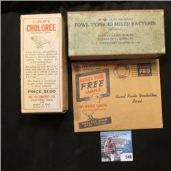Cuplin's Choloree,  Empty Box, A Sure Remedy and Preventaive for Chicken Cholera, Worms and Common D