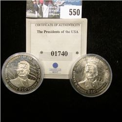 2003 Liberia $10 Ronald Reagan 40th President of the United States & 2000 $5 Attack on Pearl Harbor