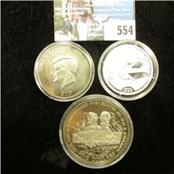 "2000 Republic of Liberia, $10 Commemorative ""Air Force Boeing 707"", Silver and encapsulated; 2000 Re"