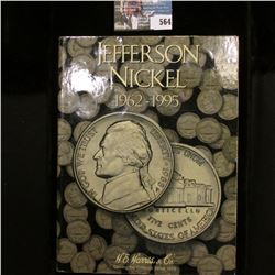 1961-95 Jefferson Nickel Set in a original Harris Coin folder. Complete.