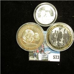 """Apollo XI July 16, 1969"" .999 Fine Silver Medal, encapsulated; ""Brady's Civil War"" Commemorative Co"