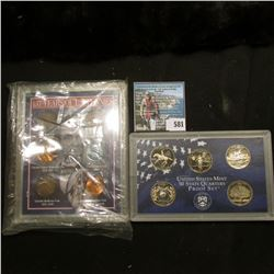 1999 S U.S. Statehood Quarter 5-Piece U.S. Proof Set in original plastic case; and a special cased s