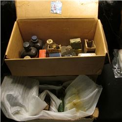 (2) Boxes full of Old Medicine Bottles (if shipped these will all be emptied), some original boxes,