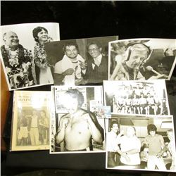 "(25) Pieces of Boxing Memorabilia including 8"" x 10"" Black & White Photos."