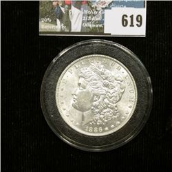 1886 P U.S. Morgan Silver Dollar, Brilliant Uncirculated.