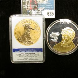 """The 12 Apostles"", ""John"", Copper-silver plated Spot Gold, 54g, Issued 2007, Proof, 50 mm. Depicts J"