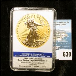 "Slabbed ""Historical Gold Eagle Reverse Proof Archival Collection 1933 Saint-Gaudens Gold Double Eagl"