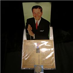 "Booklet with Lawrence Welk on the cover; ""Bringing You Will Rogers"" Flyer; & 1926 S U.S. Peace Silve"