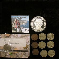 Jefferson Nickel Blank Planchet, type 2 in a Littleton Coin holder; (3) Three-Piece Sets of (suppose