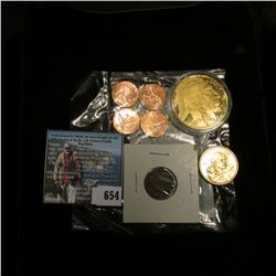 2009 Four-piece Set of Lincoln Head Cents in a Littleton Coin holder; 1906 Indian Head Cent; 2009 D