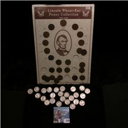 Collection of Lincoln Wheat-Ear Penny Collection 1934-58, ready to be framed; & (25) Old Mercury Sil
