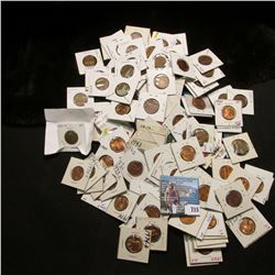 (135) Carded Lincoln Cents, which includes dates back to 1910. As well as 1932 D, 1910 S, & etc.