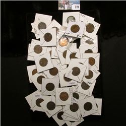 (54) Carded Indian Head Cents dating 1900 to 1909. Average Good.