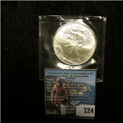 2001 U.S. American Silver Dollar One Ounce .999 Fine Silver. Brilliant Uncirculated. With American H