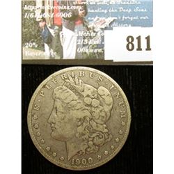 1900 O U.S. Morgan Silver Dollar, Fine with C.O.A. from the American Historical Society.