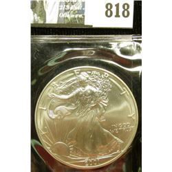 2001 U.S. American Silver Dollar One Ounce .999 Fine Silver. Brilliant Uncirculated. Complete with C