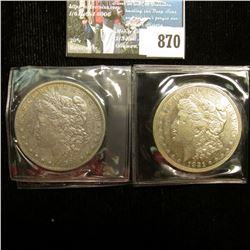 1884 P Very Fine & 21 D AU U.S. Morgan Silver Dollars, one with C.O.A. from the American Historical