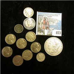 (6) Jefferson Nickels; 1876 German Five Pfennig; Pair of Buffalo Nickels; pair of Mercury Dimes; & 1
