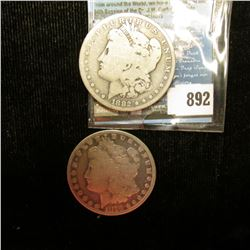 1879 P & 1882 O Good to Very Good U.S. Morgan Silver Dollars.