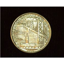 1936 S San Francisco Oakland Bay Bridge U.S. Commemorative Half Dollar, MS 63. Mintage 71,424 pieces