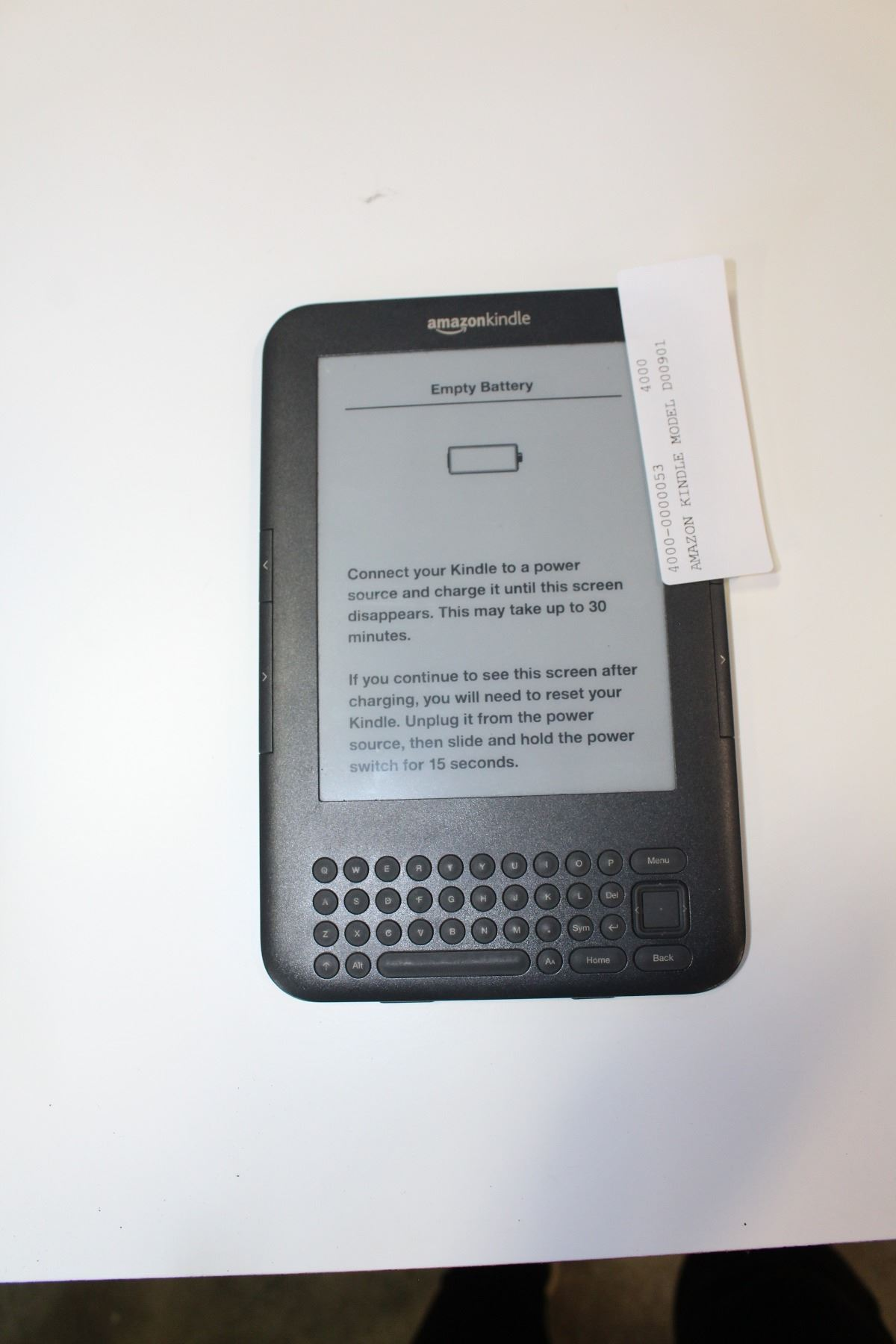 amazon kindle model d00901