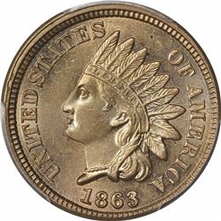 1863 1C. Indian Head. PCGS MS64.