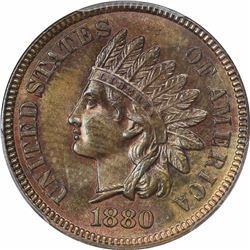 1880 1C. Indian Head. PCGS MS64 BN.