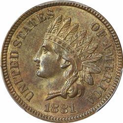 1881 1C. Indian Head. PCGS MS63 BN.