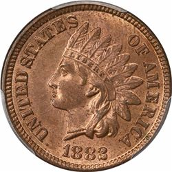 1882 1C. Indian Head. PCGS MS63 RB.