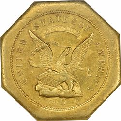 1851 Augustus Humbert, United States Assayer of Gold California. $50. Kagin-1. 880 THOUS. 50 Reverse